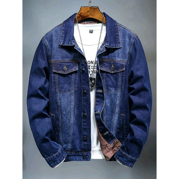 MEN'S REVERSE DEEP BLUE DENIM JACKETZ